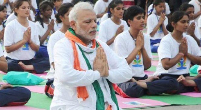 भारत के साथ-साथ दुनिया ने भी मनाया 5वां अंतरराष्ट्रीय योग दिवस