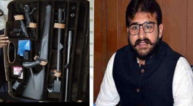 माफिया मुख्तार अंसारी के बेटे के घर छापा, हथियारों का जखीरा बरामद