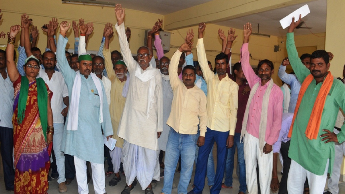 Farmers demonstrated for power crisis in Banda