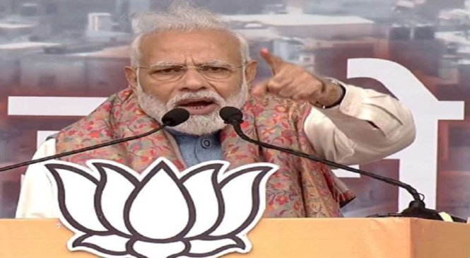 दिल्ली में गरजे प्रधानमंत्री नरेंद्र मोदी, विपक्ष पर तगड़ा हमला