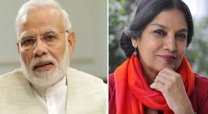 प्रधानमंत्री मोदी ने अभिनेत्री शबाना आजमी के हादसे पर दुख जताया