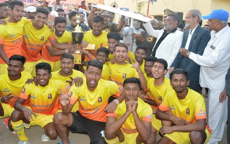 Hockey turnament between bhopal and Lucknow team in Banda