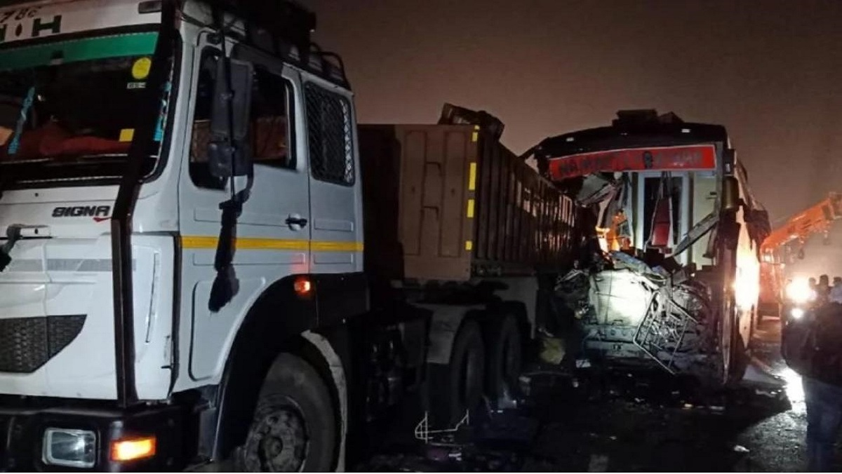 accident Lucknow-Agra express way in Firojabad 16 killed-35 injured