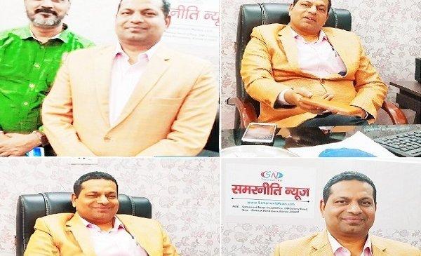 'समरनीति न्यूज' आफिस में DIG दीपक कुमार अतिथि बने