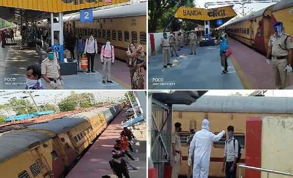 राहत की खबरः बांदा पहुंची सूरत में फंसे मजदूरों की स्पेशल ट्रेन