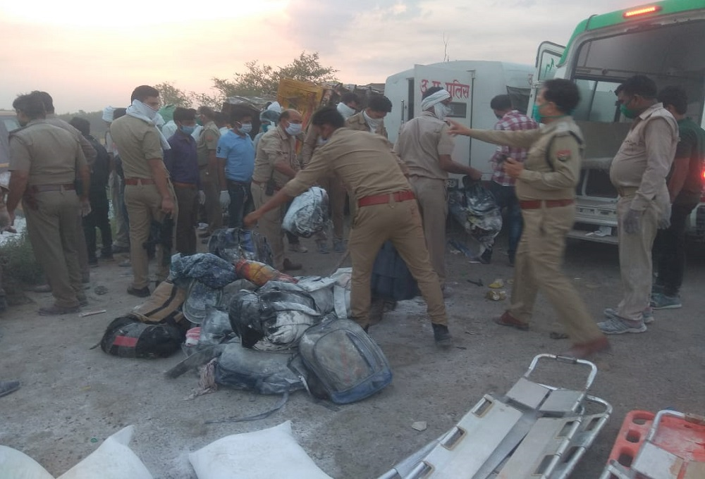 Big news: A horrifying accident in Auraiya, 23 killed, more than 25 injured