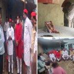 बांदा में सपाईयों ने शहीद सीओ देवेंद्र मिश्रा के गांव पहुंच परिजनों को बंधाया ढांढस