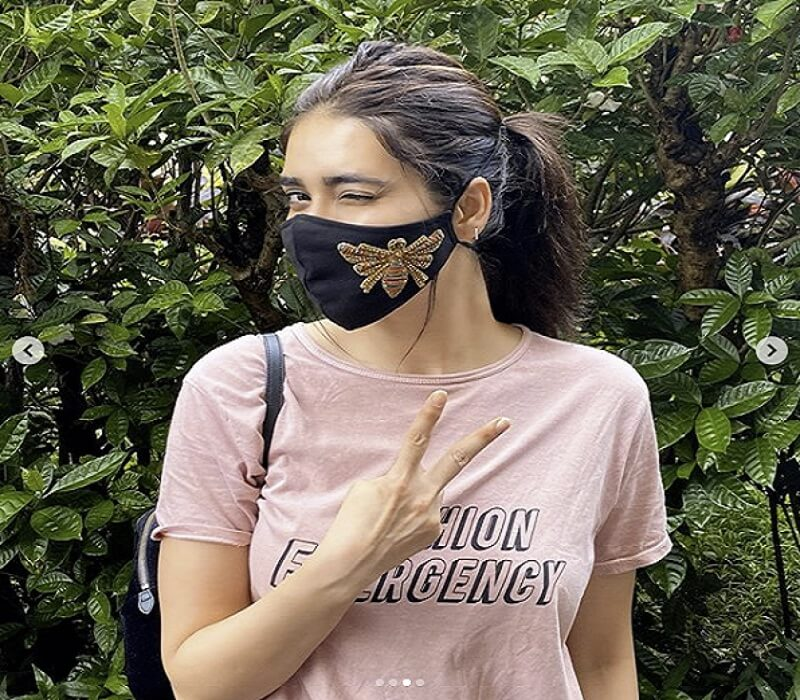 Actress Karishma Tanna's stunning look in a butter-fly mask will make you crazy