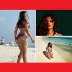 Bollywood : समुंदर किनारे Red Bikni में Actress दिशा पाटनी, फैंस बोले..