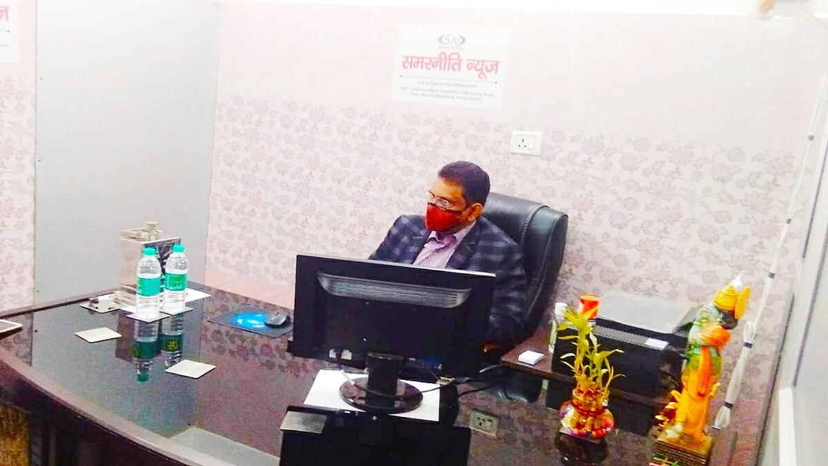 Banda DM Anand Singh said in office of Samarneeti News, development speed and coronation degradation are priority