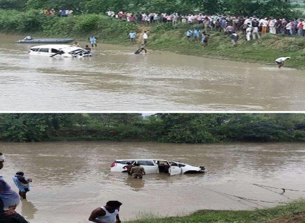 यूपीः पंजाब में तैनात रेलवे अभियंता की कार नहर में गिरने से मौत, दो बाल-बाल बचे