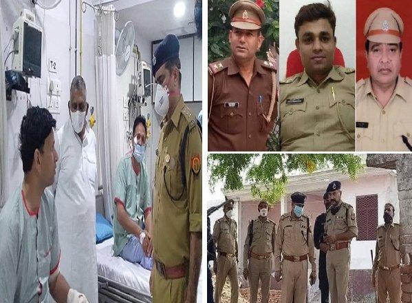 कानपुर में पुलिस टीम पर हमला, 1 सीओ, 3 दरोगा समेत 8 पुलिसकर्मी शहीद