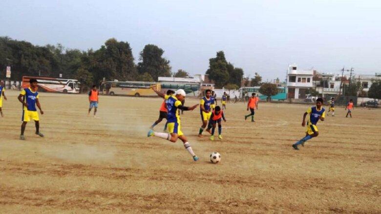 फुटबाल में बांदा ने महोबा टीम को 5-3 से हराया