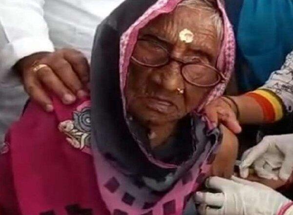 Corona virus : देश के लिए प्रेरणास्रोत बनीं 109 साल की राम दुल्हैया, वैक्सीन लगवाया