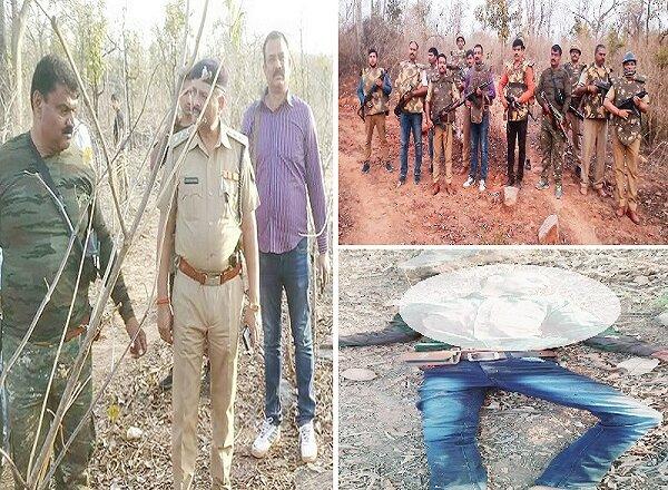 चित्रकूट में STF और पुलिस ने मार गिराया ईनामी डकैत भालचंद्र, कांबिंग जारी