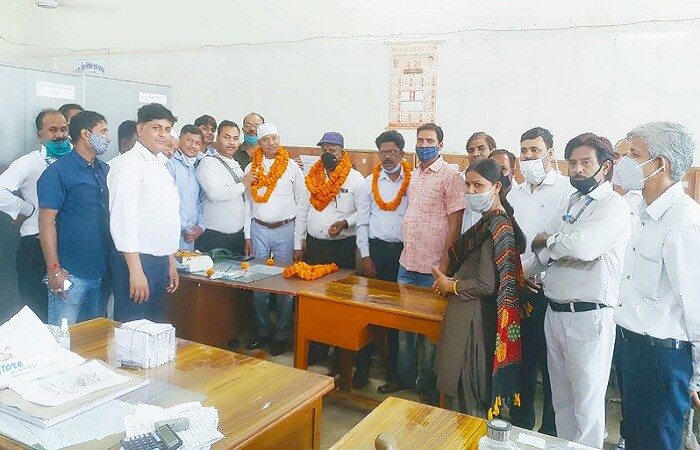 Kanpur railway station chief ticket inspector welcomed