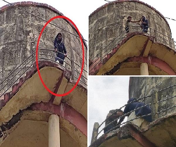 बांदा में 'फिल्म शोले' स्टाइल में पानी टंकी पर चढ़ी महिला, पुलिस पर प्रताड़ना का आरोप, फिर हुआ ऐसा..