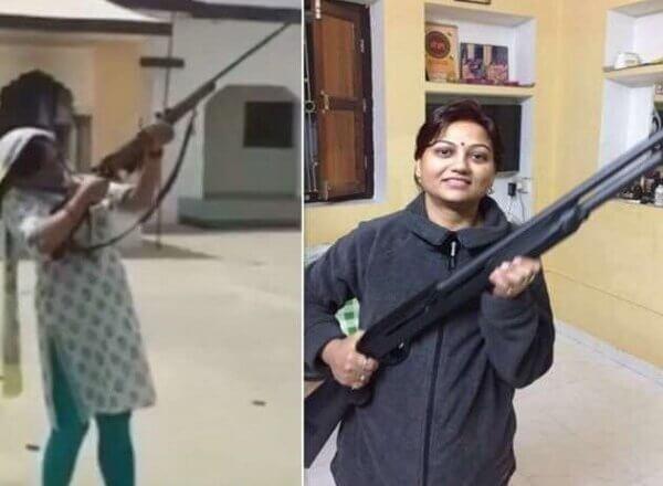बड़ी खबर : महिला जिपं सदस्य का फायरिंग वीडियो वायरल, पूर्व विधायक की बहन पर मुकदमा
