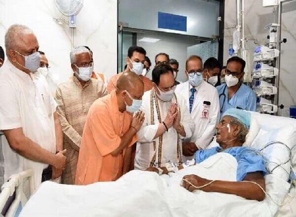 कल्याण सिंह का हाल जानने PGI पहुंचे बीजेपी अध्यक्ष नड्डा, CM योगी रहे साथ